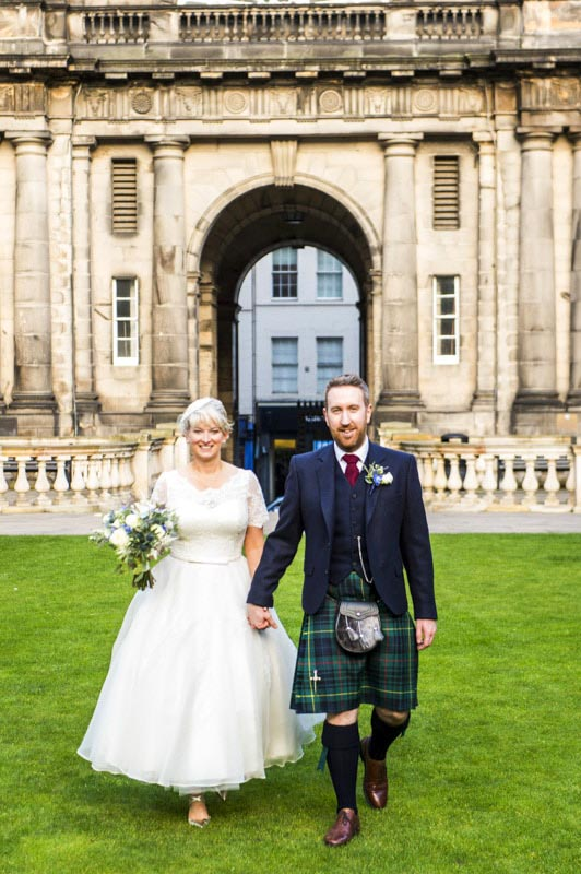Old College University of Edinburgh Wedding