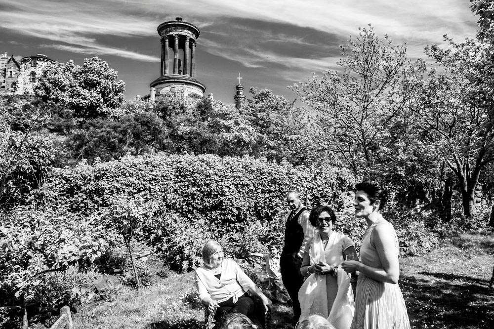 rock house edinburgh wedding
