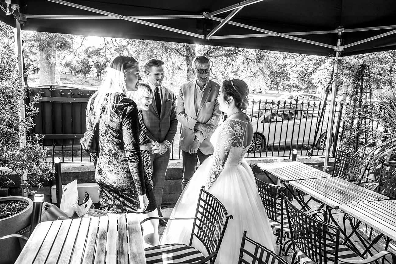 black ivy wedding
