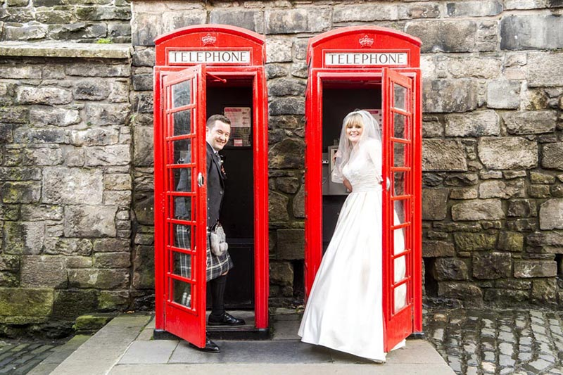 Edinburgh Castle Duddingston Golf Club Wedding