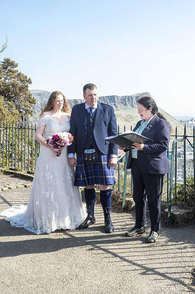 calton hill edinburgh wedding