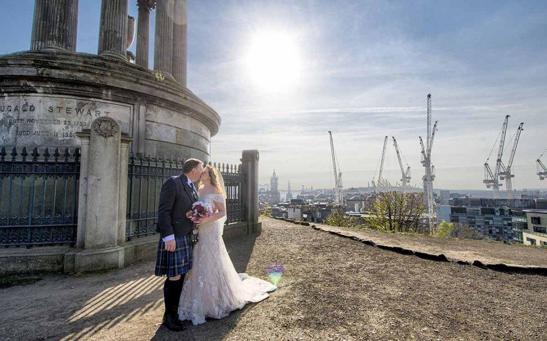 Calton Hill Wedding